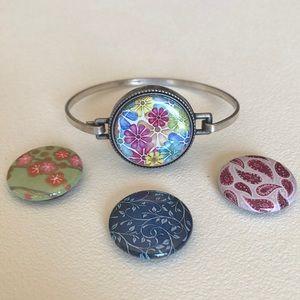 💜Magnabilities antique silver magnetic bracelet